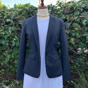 Zara Basic Collection Women Grey/Navy Blue Suit